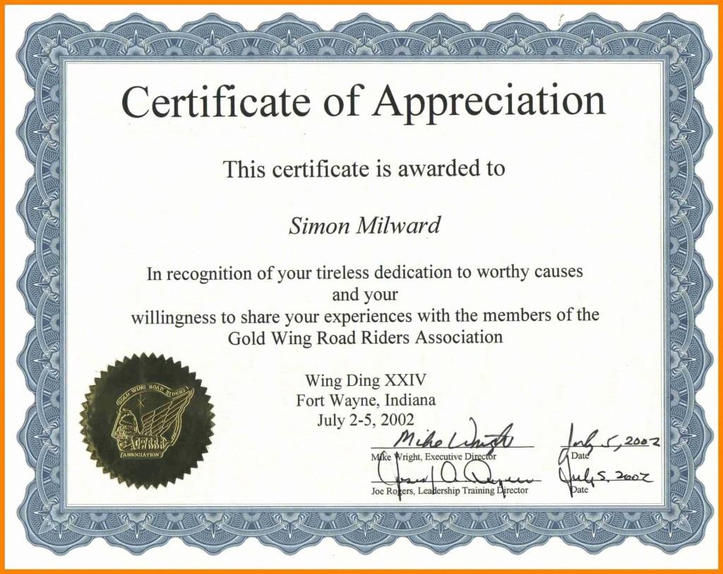 002 Astounding Certificate Of Recognition Sample Wording Inspiration  AwardLarge