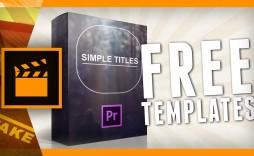002 Astounding Free Adobe Premiere Template Sample  Templates Pro Intro Rush Wedding Video
