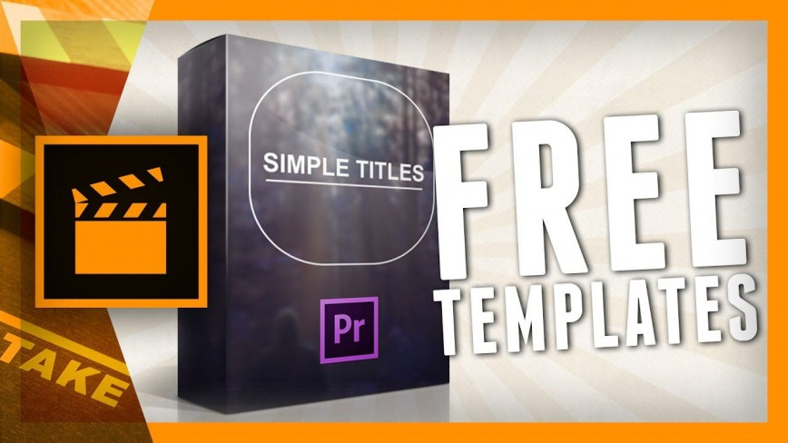 002 Astounding Free Adobe Premiere Template Sample  Templates Video Wedding Title Pro Cc Text Download