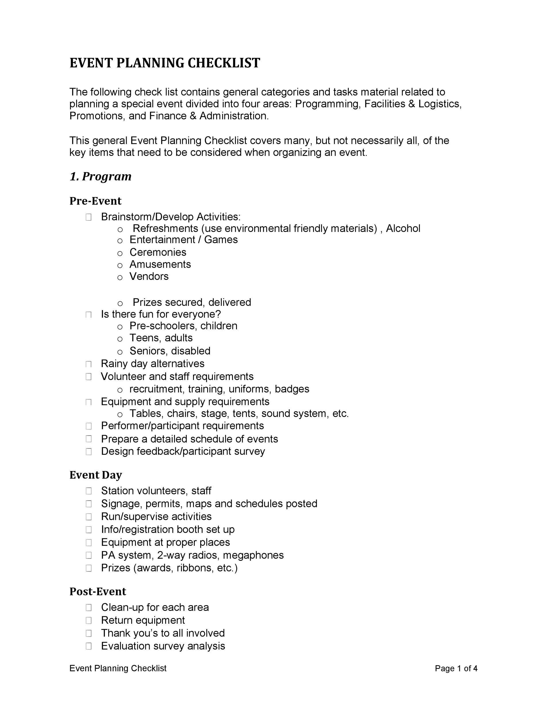 002 Astounding Free Event Planner Checklist Template Inspiration  Planning PartyFull