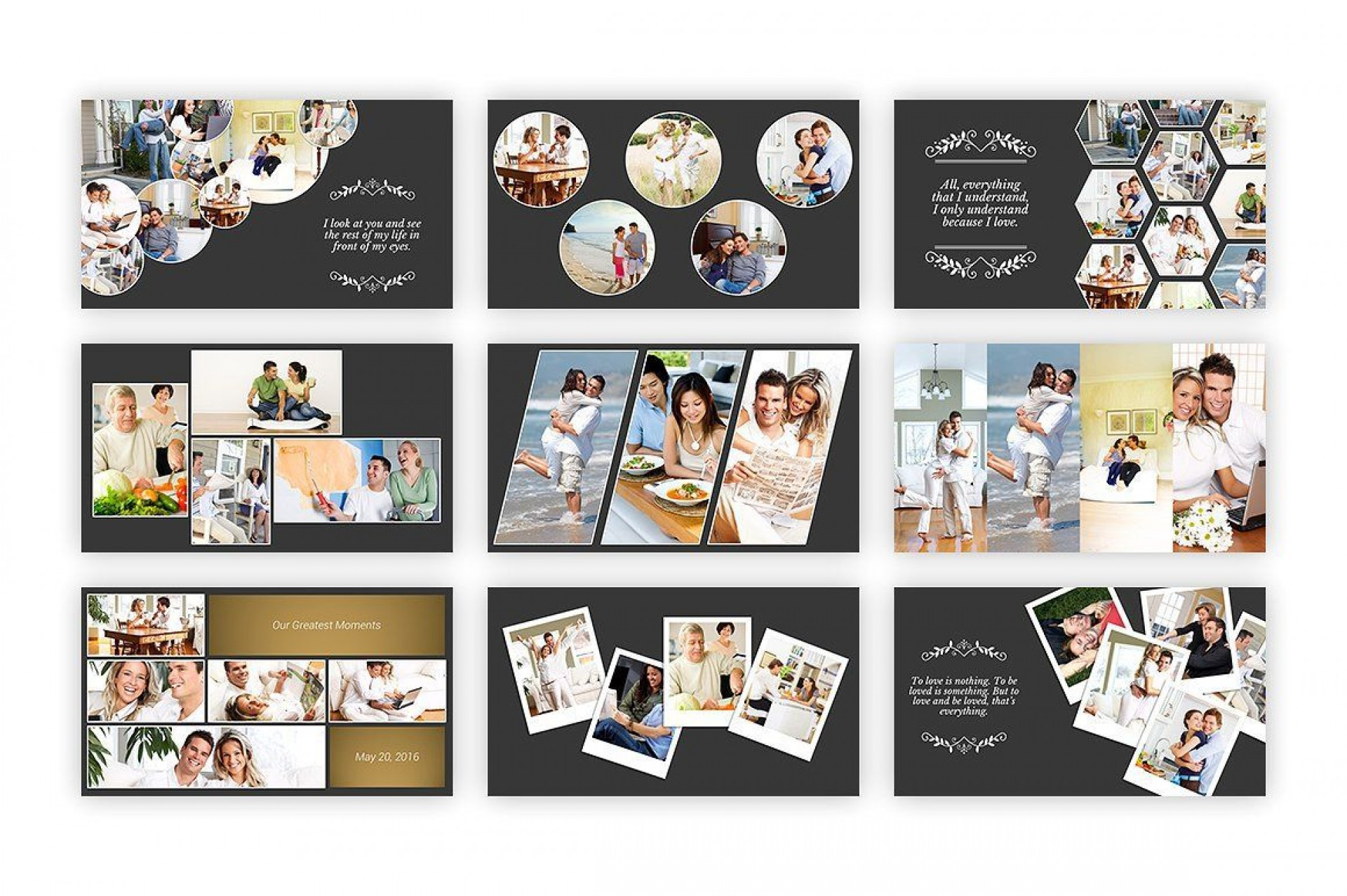 002 Astounding Free Photo Collage Template For Powerpoint Inspiration 1920