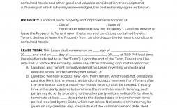 002 Astounding Housing Rental Agreement Template Free Photo