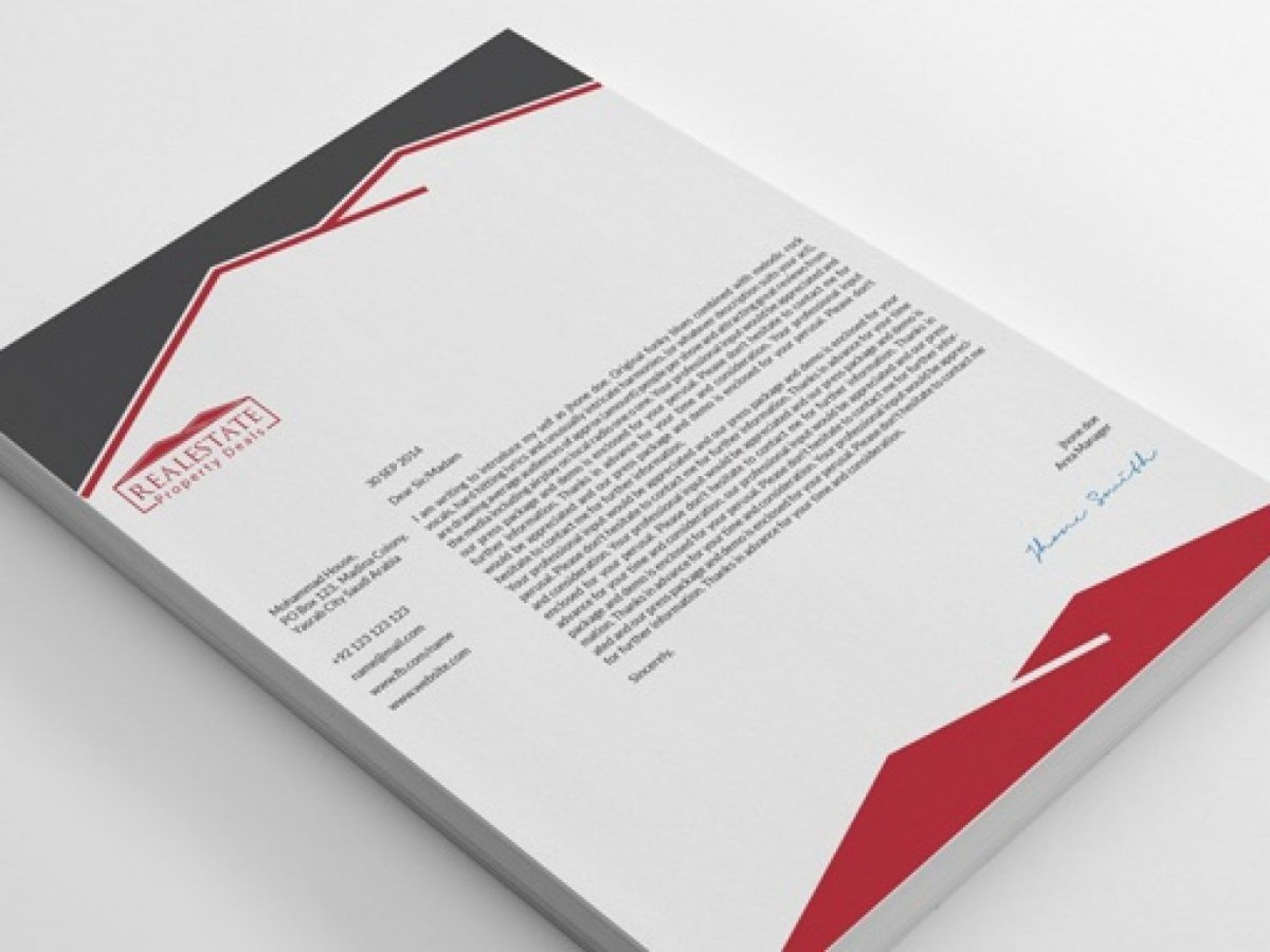 002 Astounding Letterhead Template Free Download Psd Design  Corporate A41920