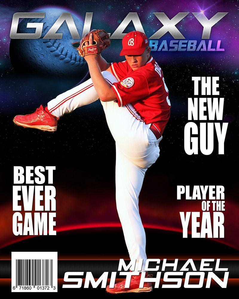 002 Astounding Photoshop Baseball Magazine Cover Template Concept Full