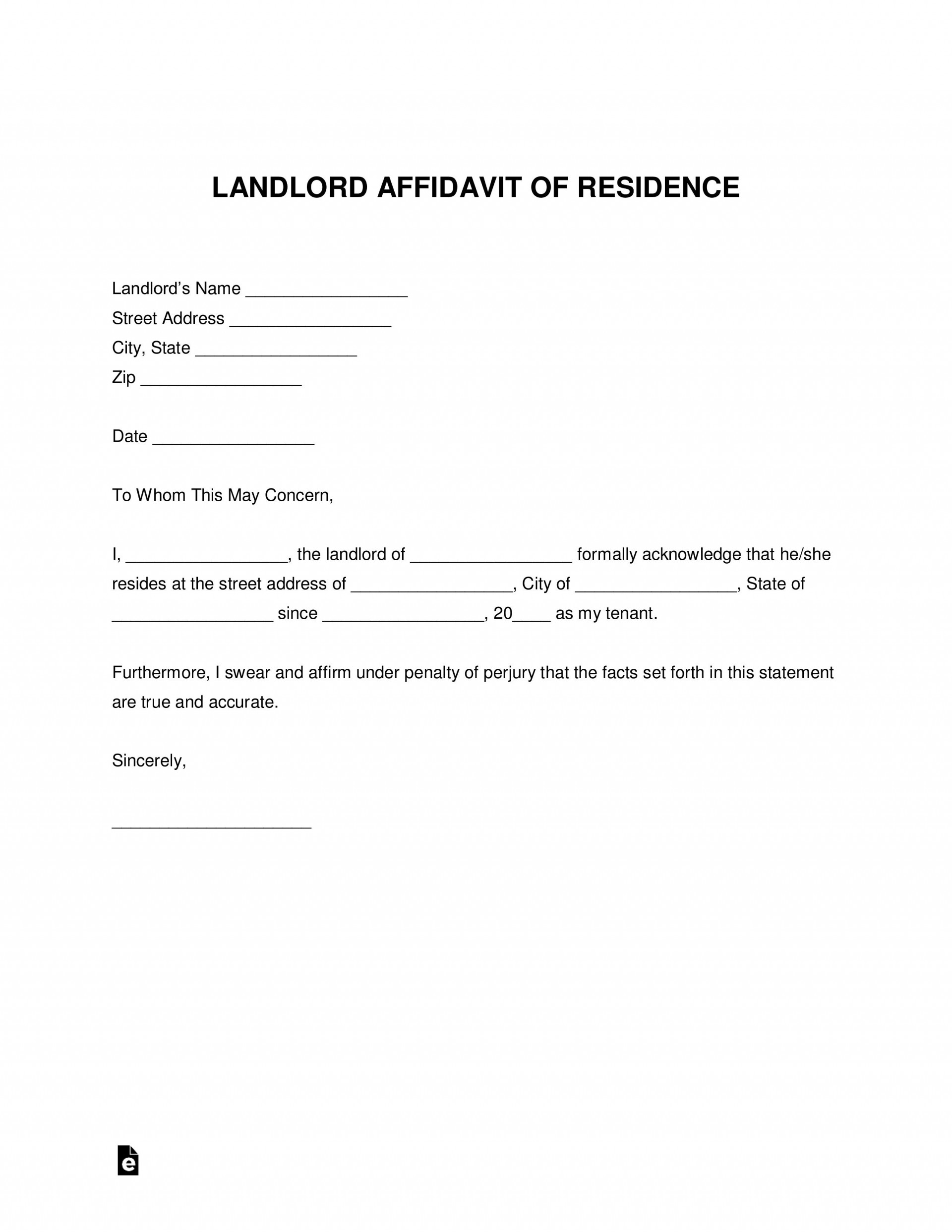 002 Astounding Proof Of Residency Letter Template High Resolution  Pdf From Landlord Family Member South Africa1920