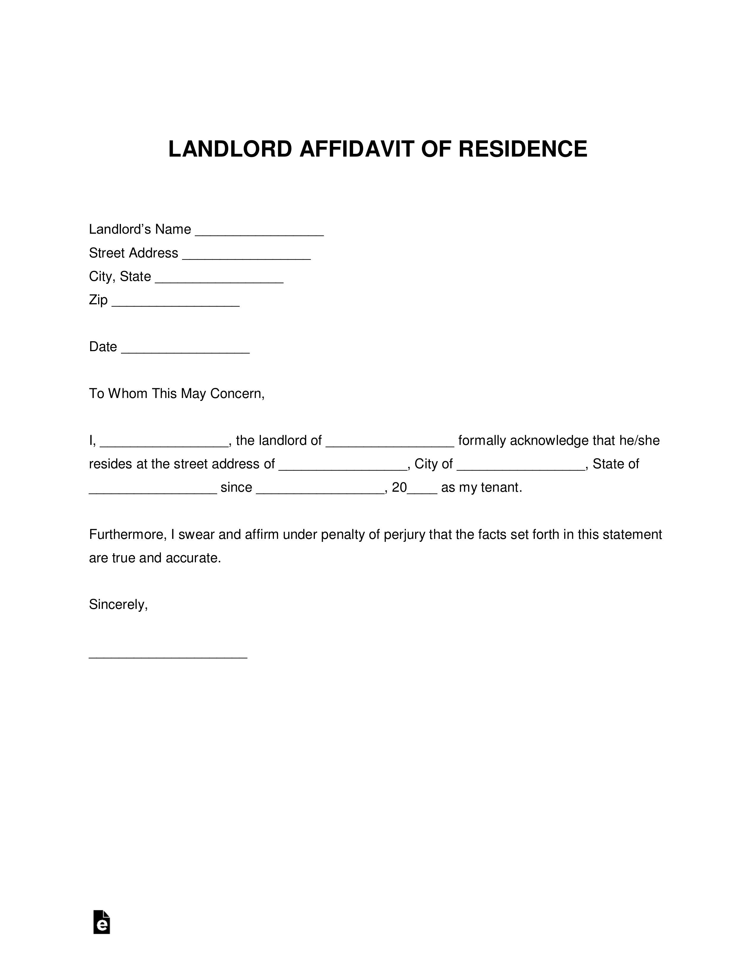 Landlord Letter Proof Of Residency from www.addictionary.org