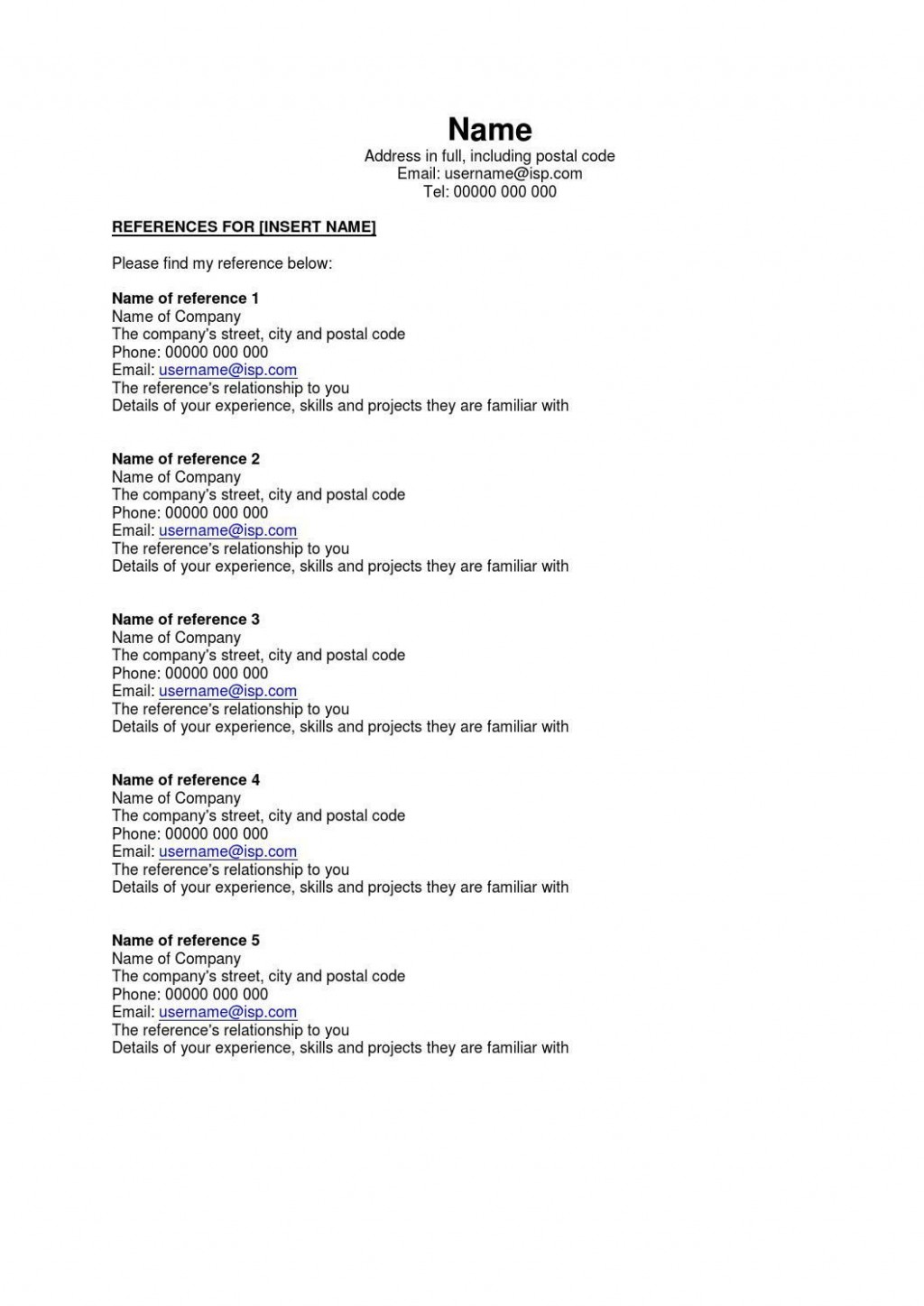 002 Astounding Resume Reference List Template Microsoft Word High Resolution Large