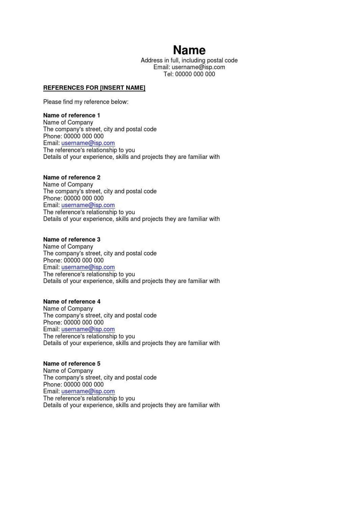 002 Astounding Resume Reference List Template Microsoft Word High Resolution 1400
