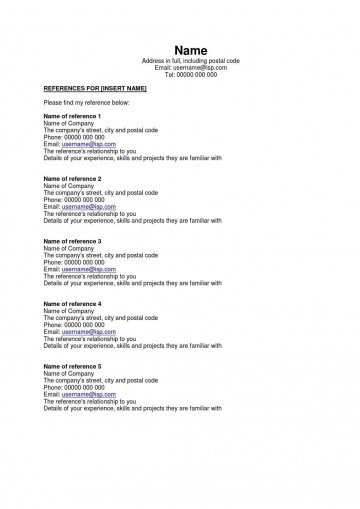 002 Astounding Resume Reference List Template Microsoft Word High Resolution 360
