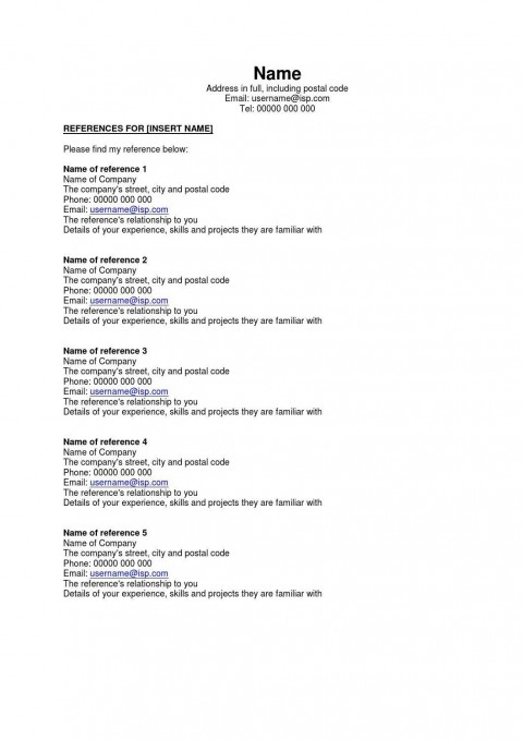 002 Astounding Resume Reference List Template Microsoft Word High Resolution 480