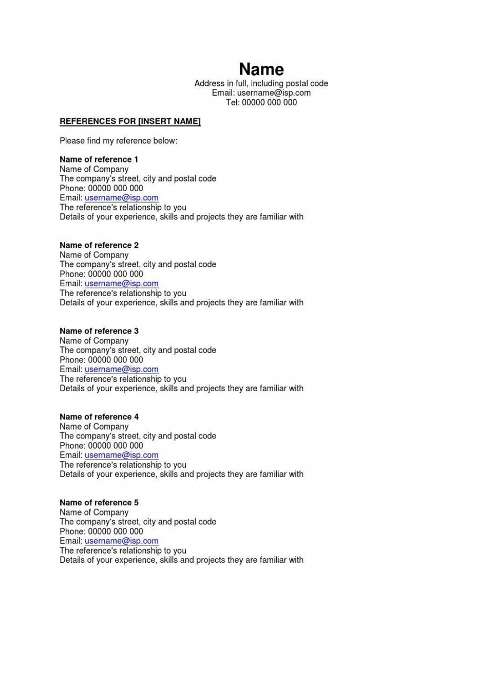 002 Astounding Resume Reference List Template Microsoft Word High Resolution 960