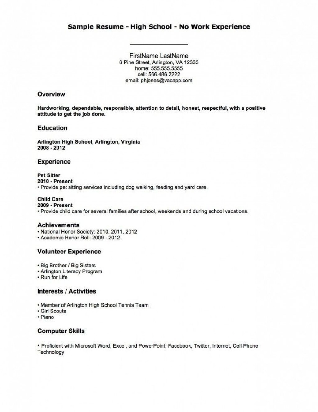 002 Astounding Resume Template For First Job High Resolution  Free TeenagerLarge