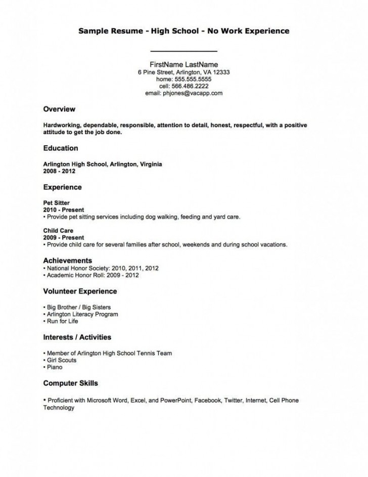 002 Astounding Resume Template For First Job High Resolution  Student Australia In School Teenager728