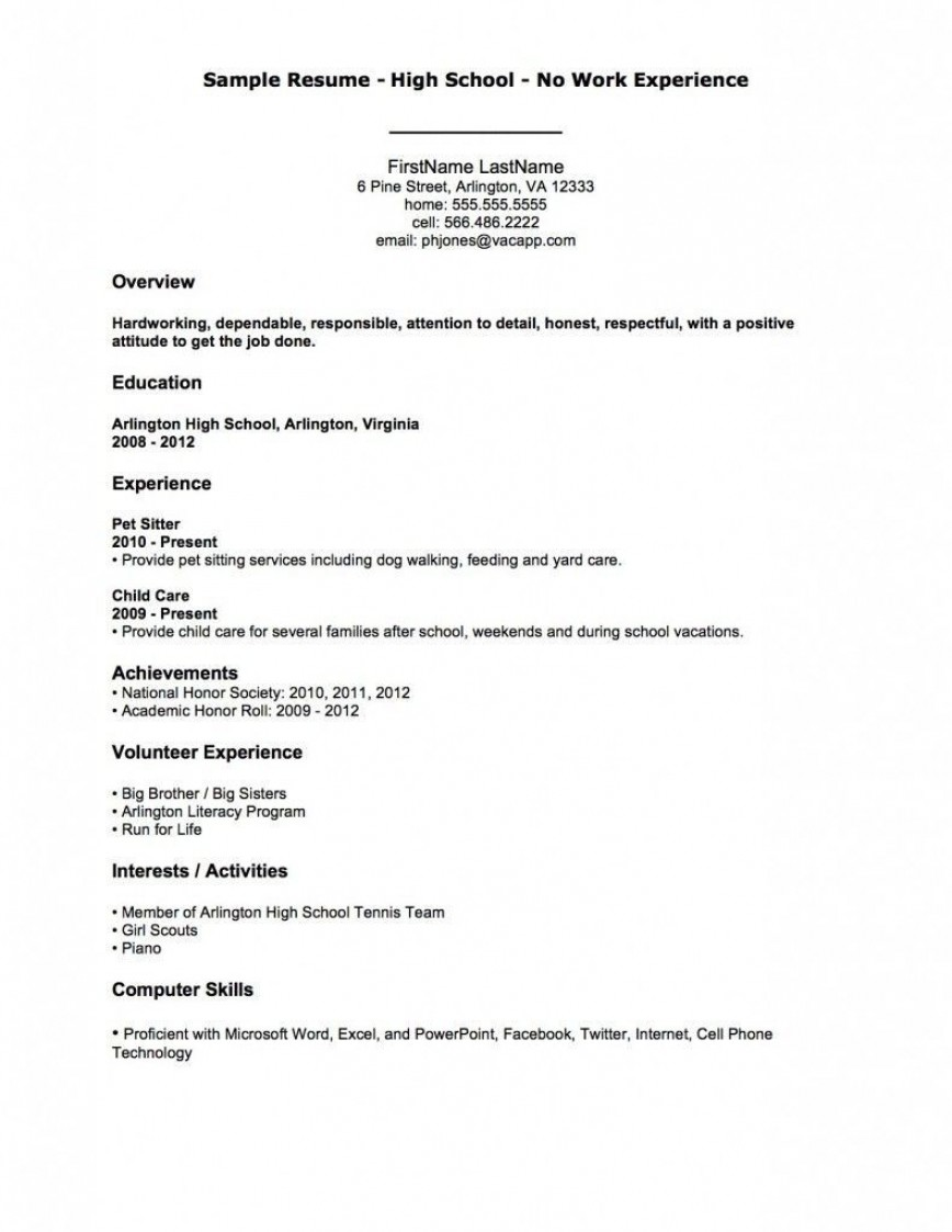 002 Astounding Resume Template For First Job High Resolution  Student Australia In School Teenager868