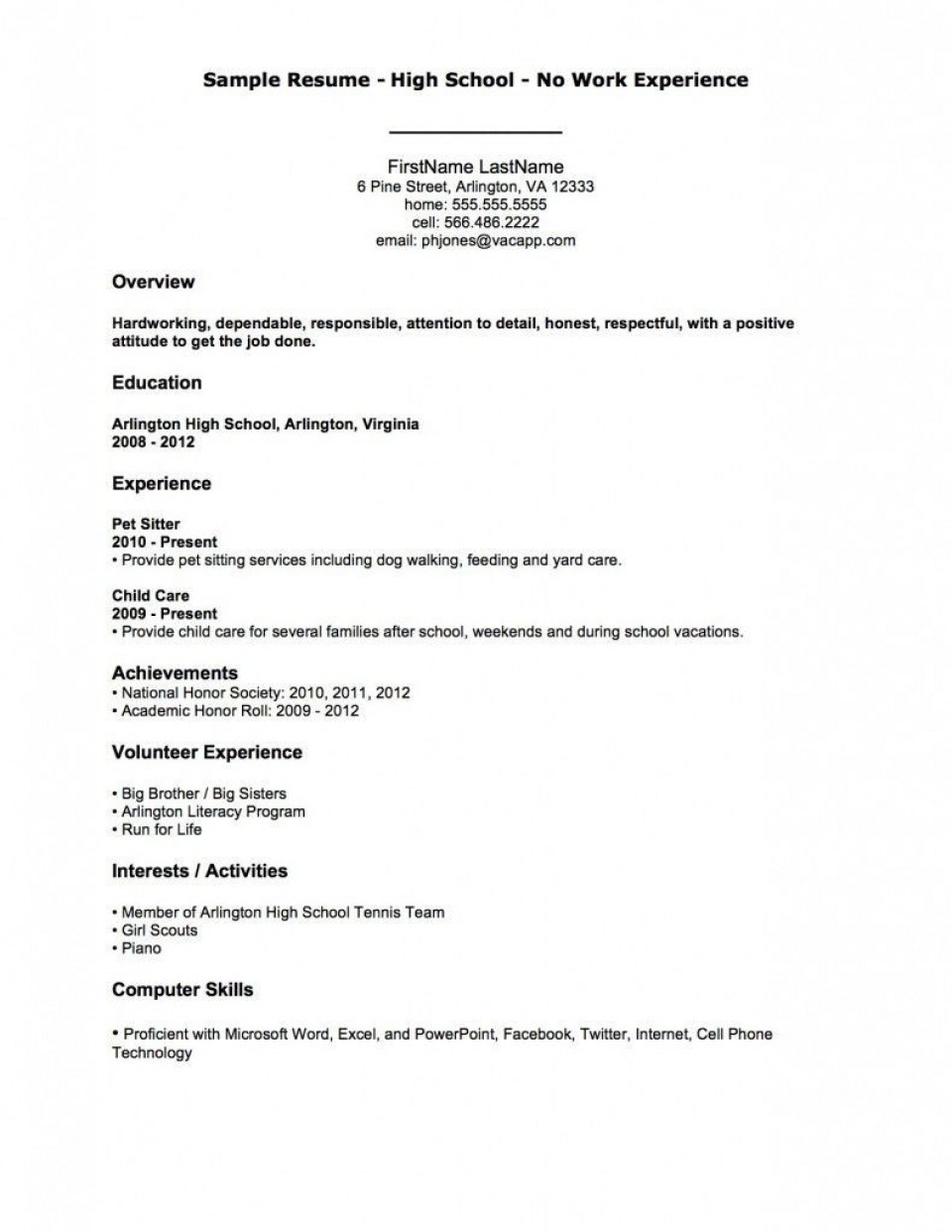 002 Astounding Resume Template For First Job High Resolution  Student Australia In School Teenager960