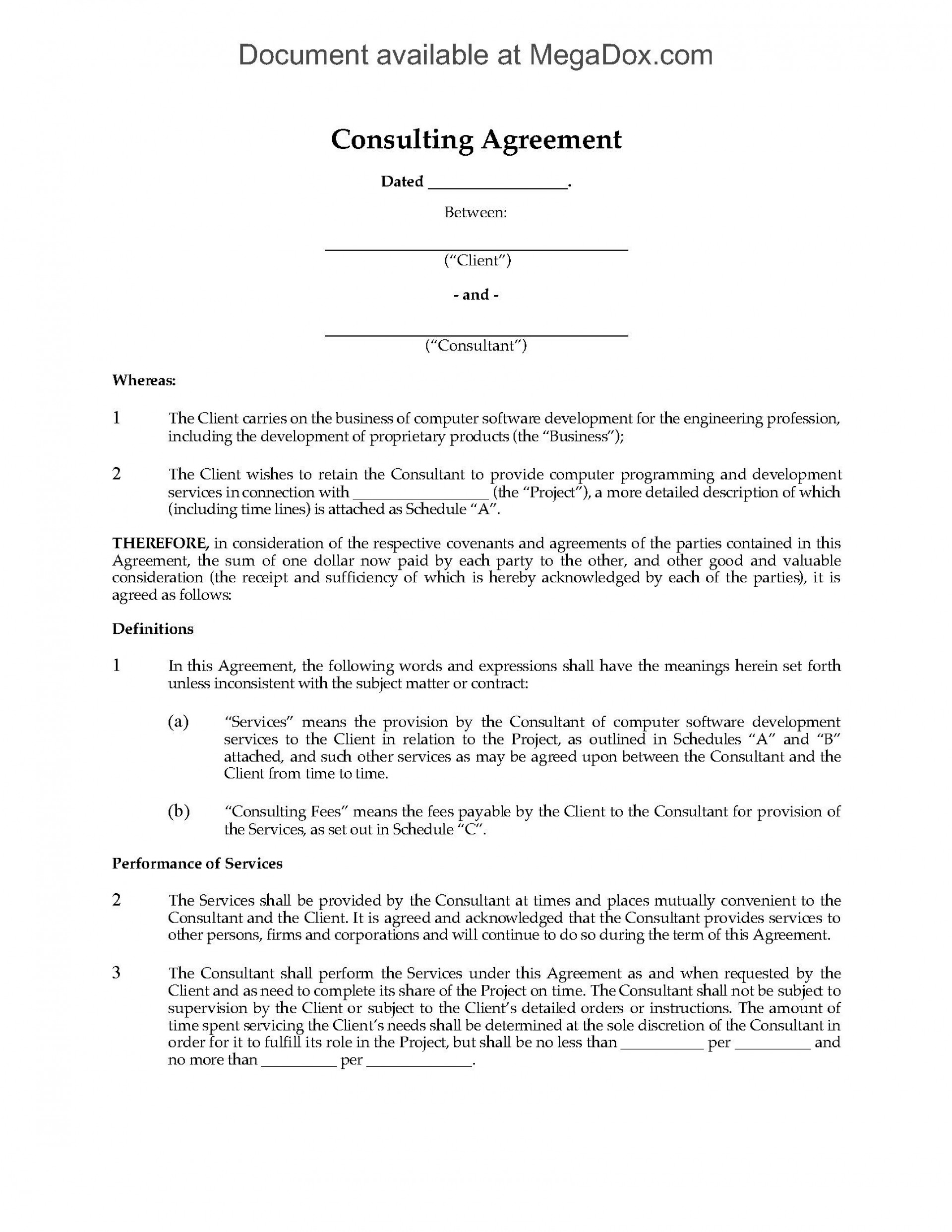 002 Astounding Simple Consulting Agreement Template High Def  Free Uk Pdf1920