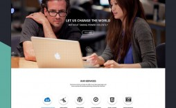 002 Astounding Simple One Page Website Template Free Download Sample  Html With Cs