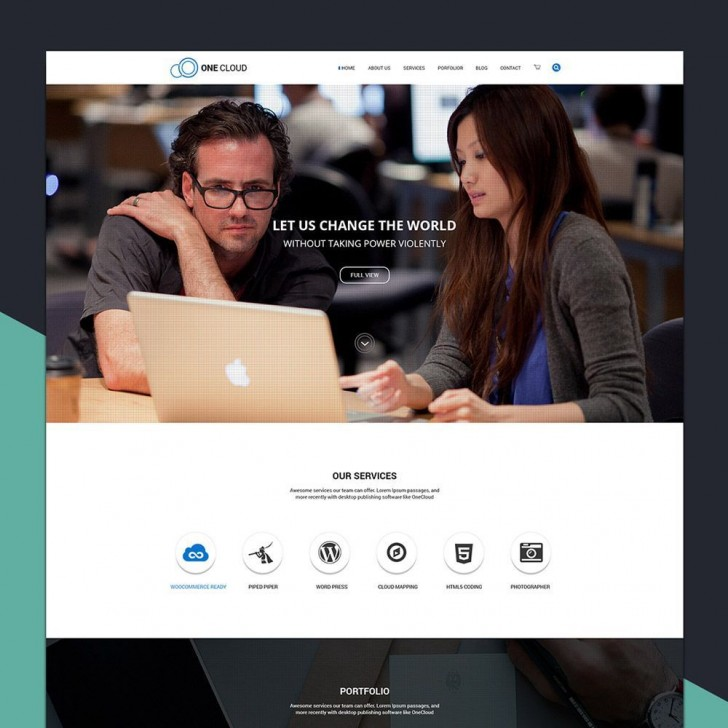002 Astounding Simple One Page Website Template Free Download Sample  Html With Cs728