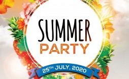 002 Astounding Summer Party Flyer Template Free Download Highest Clarity