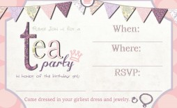 002 Astounding Tea Party Invitation Template Free Sample  Afternoon High Invite Download