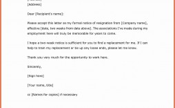 002 Astounding Two Week Notice Letter Template Idea  2 Google Doc Word Simple