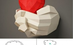 002 Awesome 3d Paper Art Template Sample  Templates Pdf