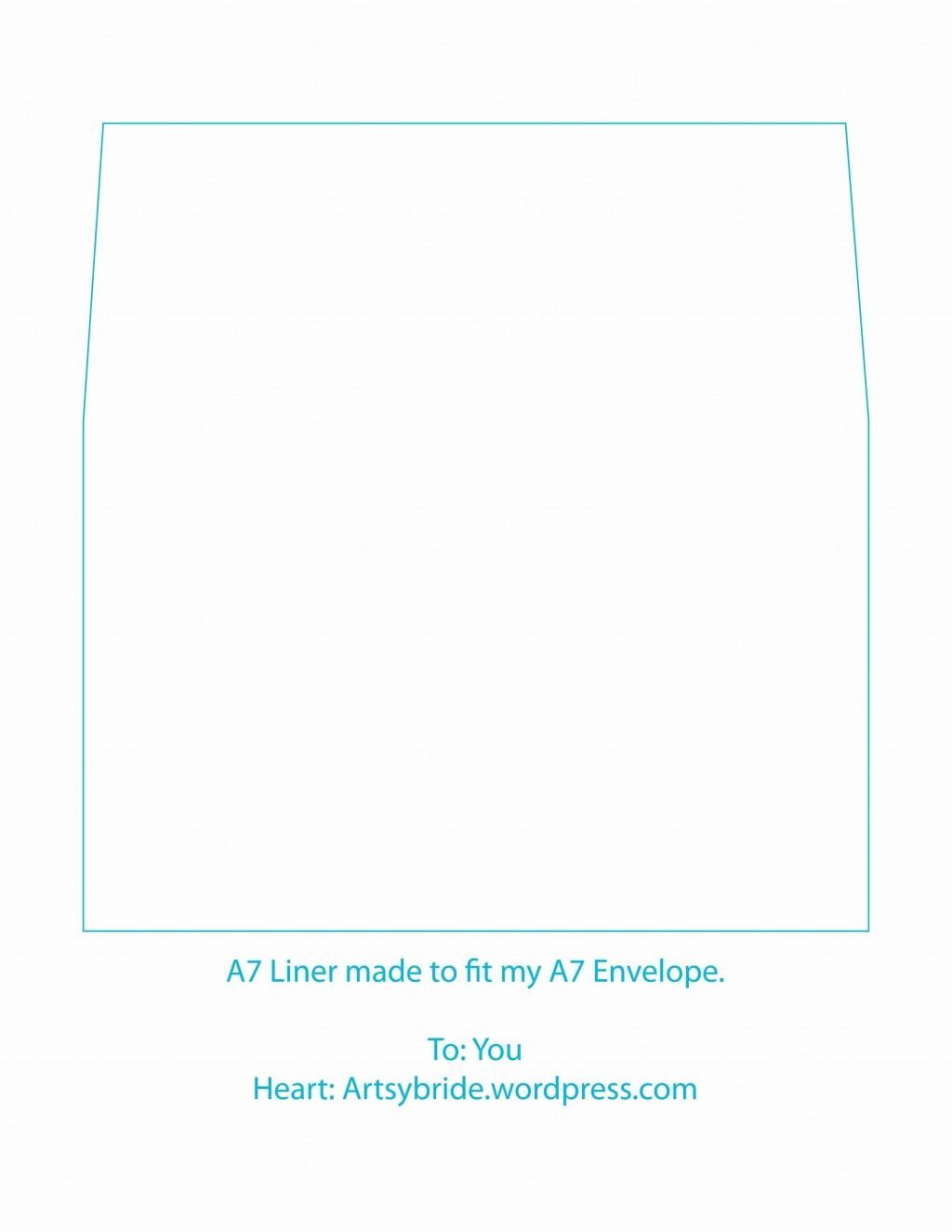 002 Awesome A7 Envelope Liner Template Idea  Printable Illustrator FreeLarge