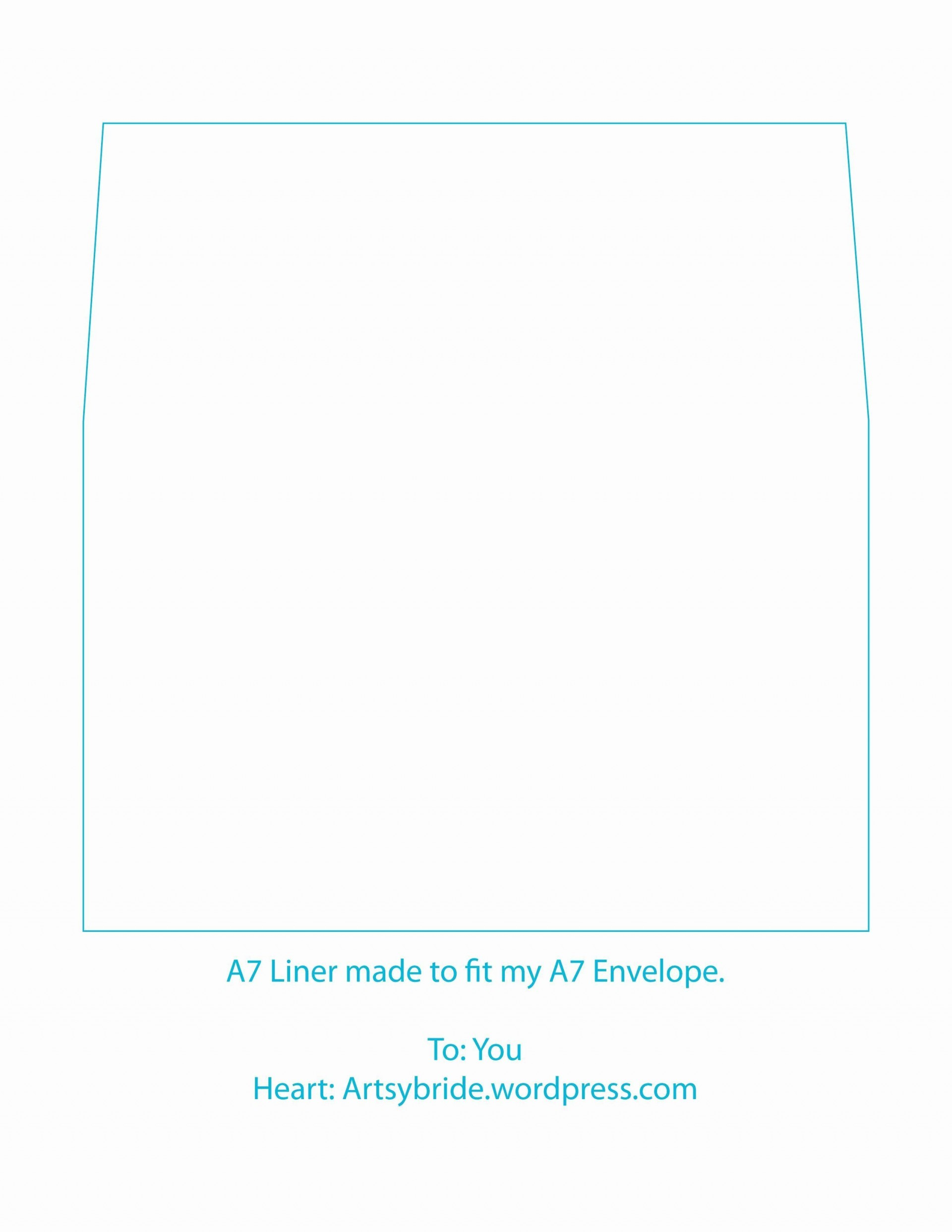 002 Awesome A7 Envelope Liner Template Idea  Printable Illustrator Free1920