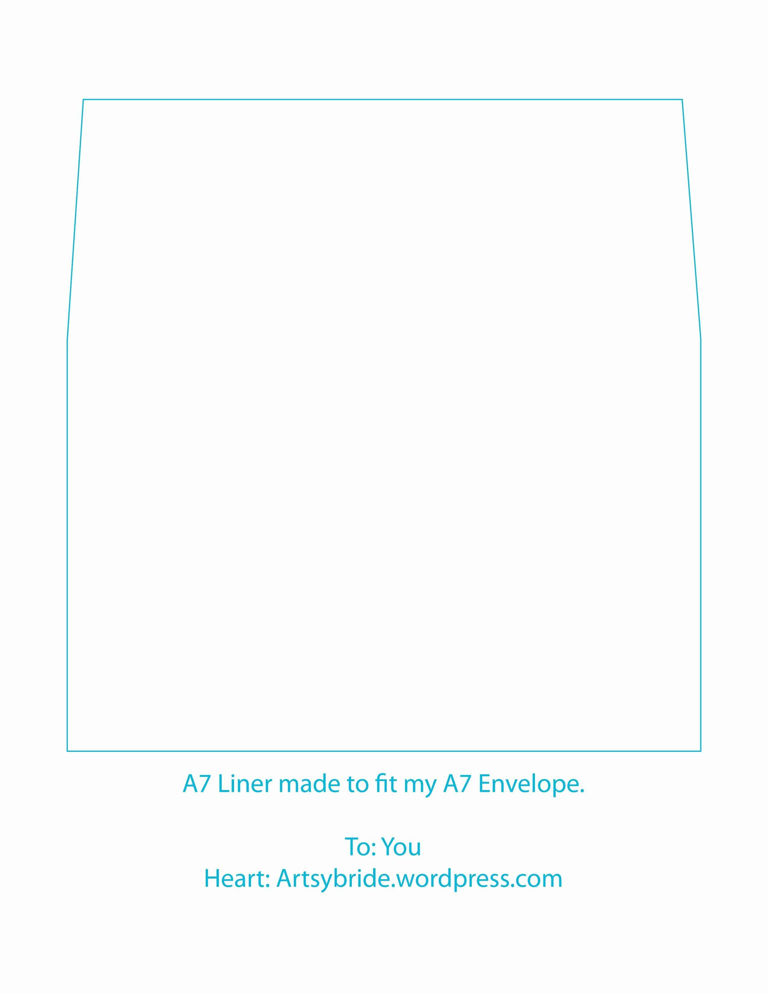 002 Awesome A7 Envelope Liner Template Idea  Printable Illustrator FreeFull