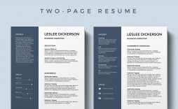002 Awesome Best Resume Template Free High Resolution  2019 2018 Top Download
