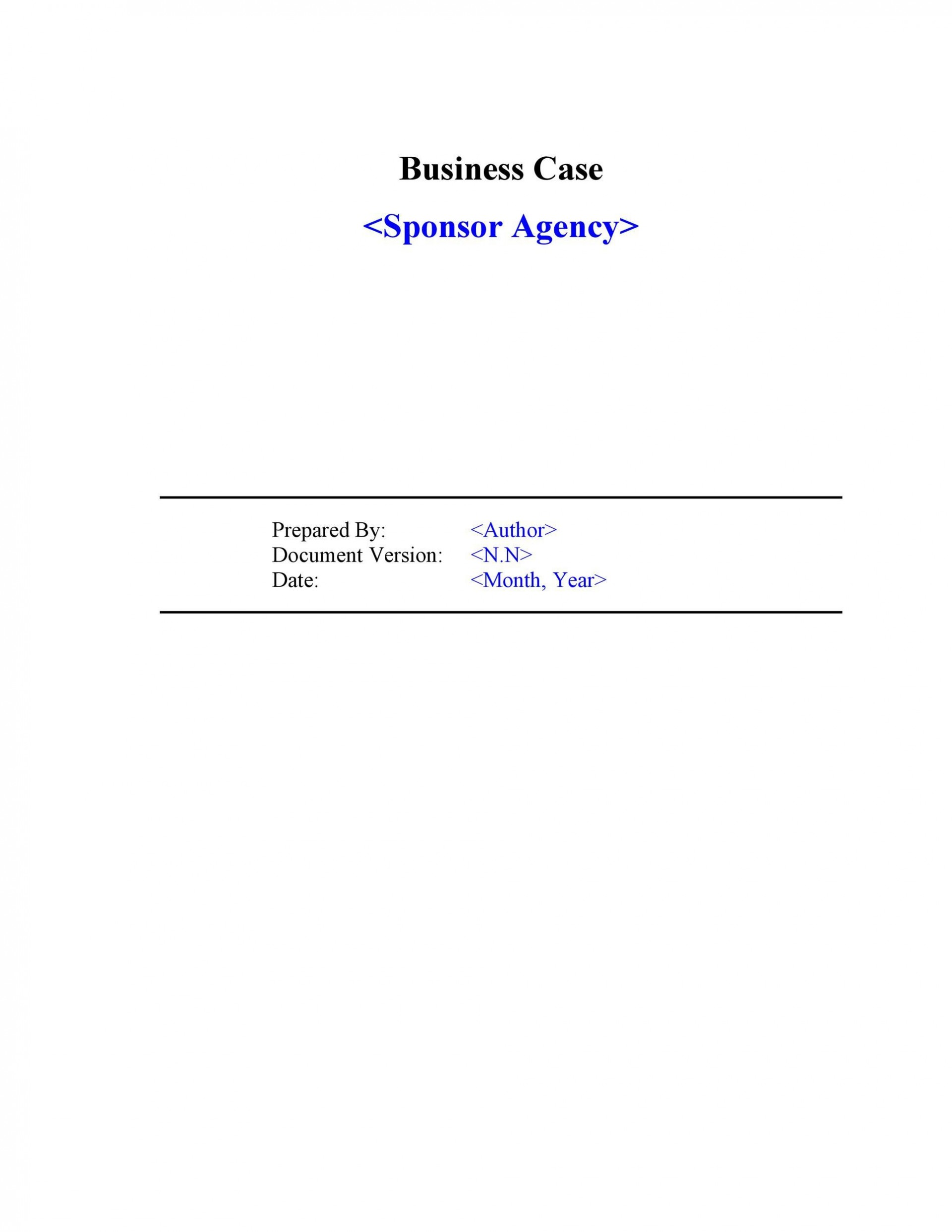 002 Awesome Busines Case Template Word Example  Download Document Project1920