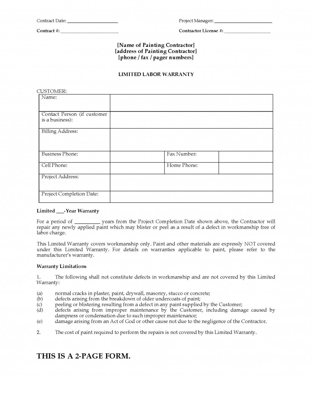 002 Awesome Construction Busines Form Template High Def Large