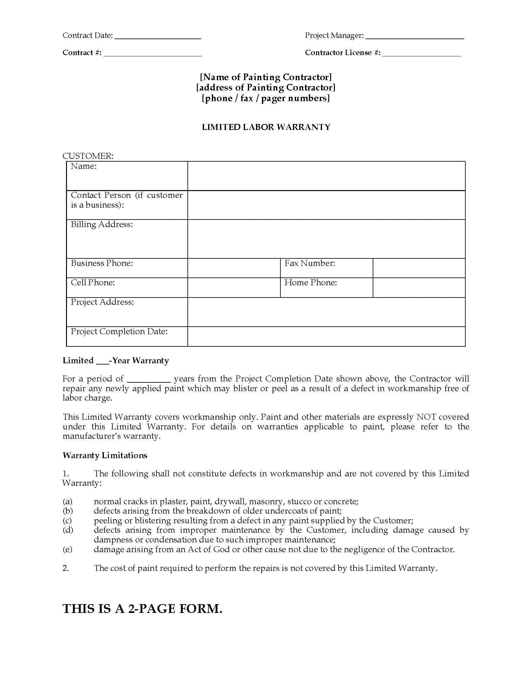 002 Awesome Construction Busines Form Template High Def Full