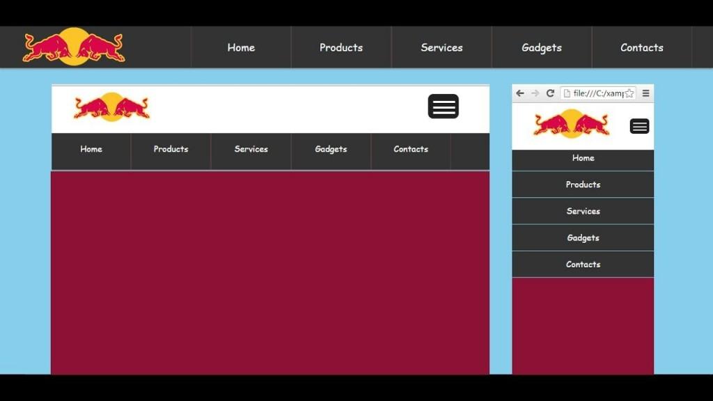 002 Awesome Cs Menu Bar Template Free Download Sample  Simple HtmlLarge