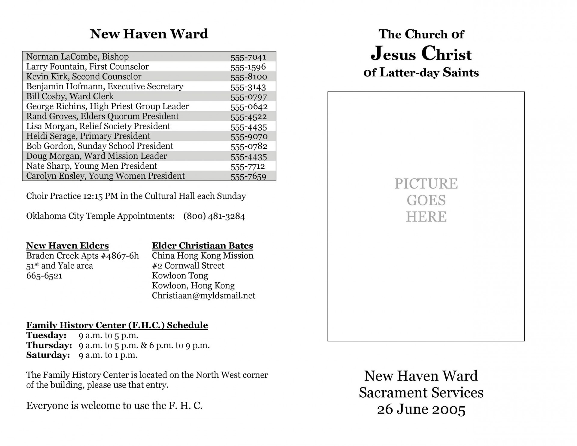 002 Awesome Free Church Program Template Doc Highest Clarity 1920