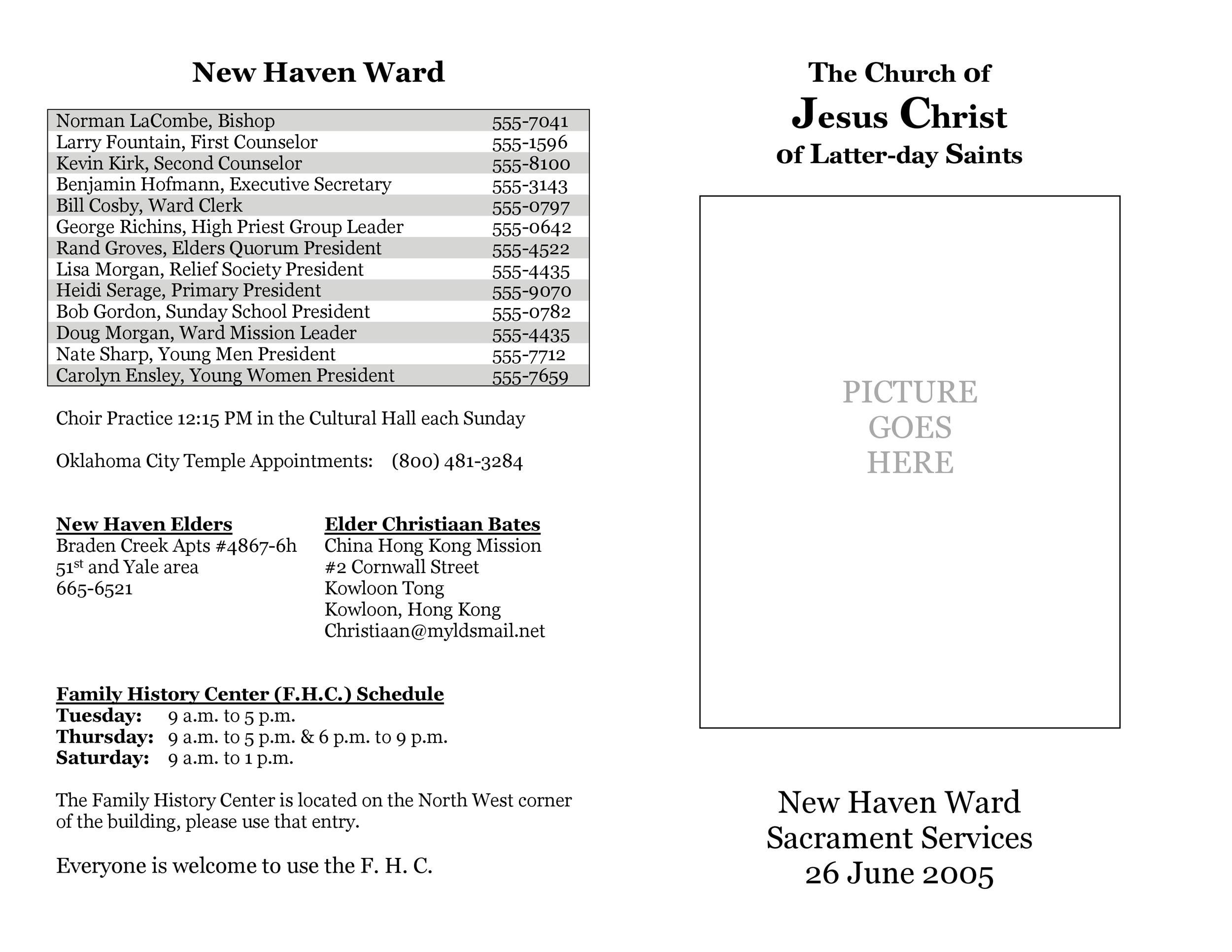 002 Awesome Free Church Program Template Doc Highest Clarity Full