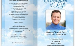 002 Awesome Free Download Template For Funeral Program Image