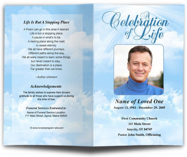 002 Awesome Free Download Template For Funeral Program Image 728