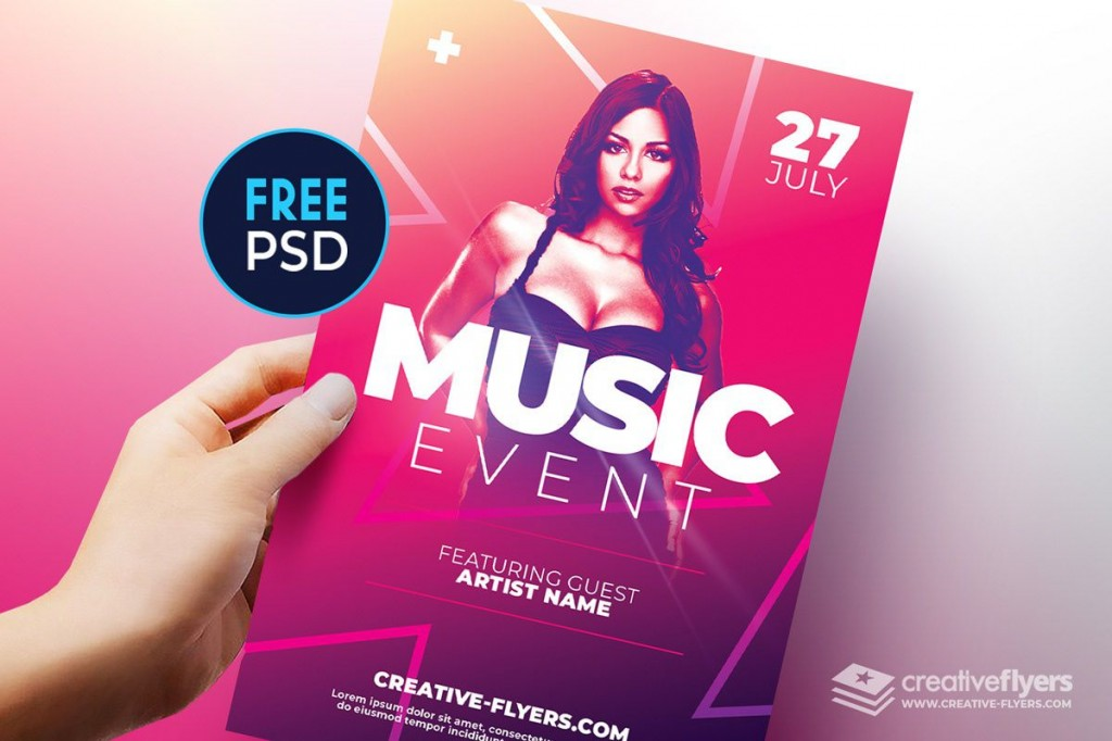 002 Awesome Free Flyer Template Psd High Resolution  Christma Photoshop Birthday Download RestaurantLarge