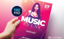 002 Awesome Free Flyer Template Psd High Resolution  Christma Photoshop Birthday Download Restaurant