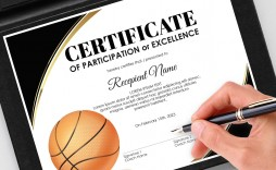 002 Awesome Free Printable Basketball Certificate Template Picture  Templates