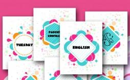 002 Awesome Free Printable Teacher Binder Template Inspiration  Templates