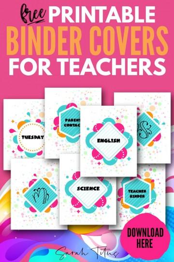 002 Awesome Free Printable Teacher Binder Template Inspiration 360