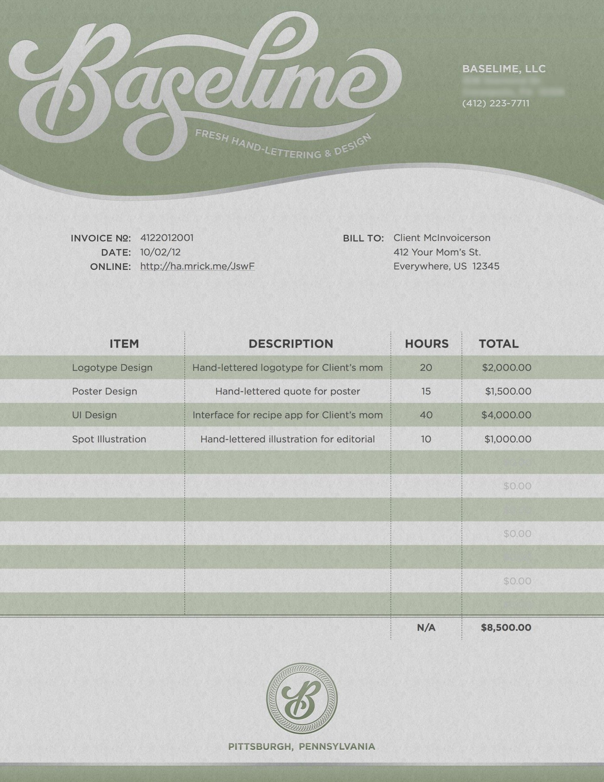 002 Awesome Freelance Graphic Designer Invoice Sample Highest Clarity 1920