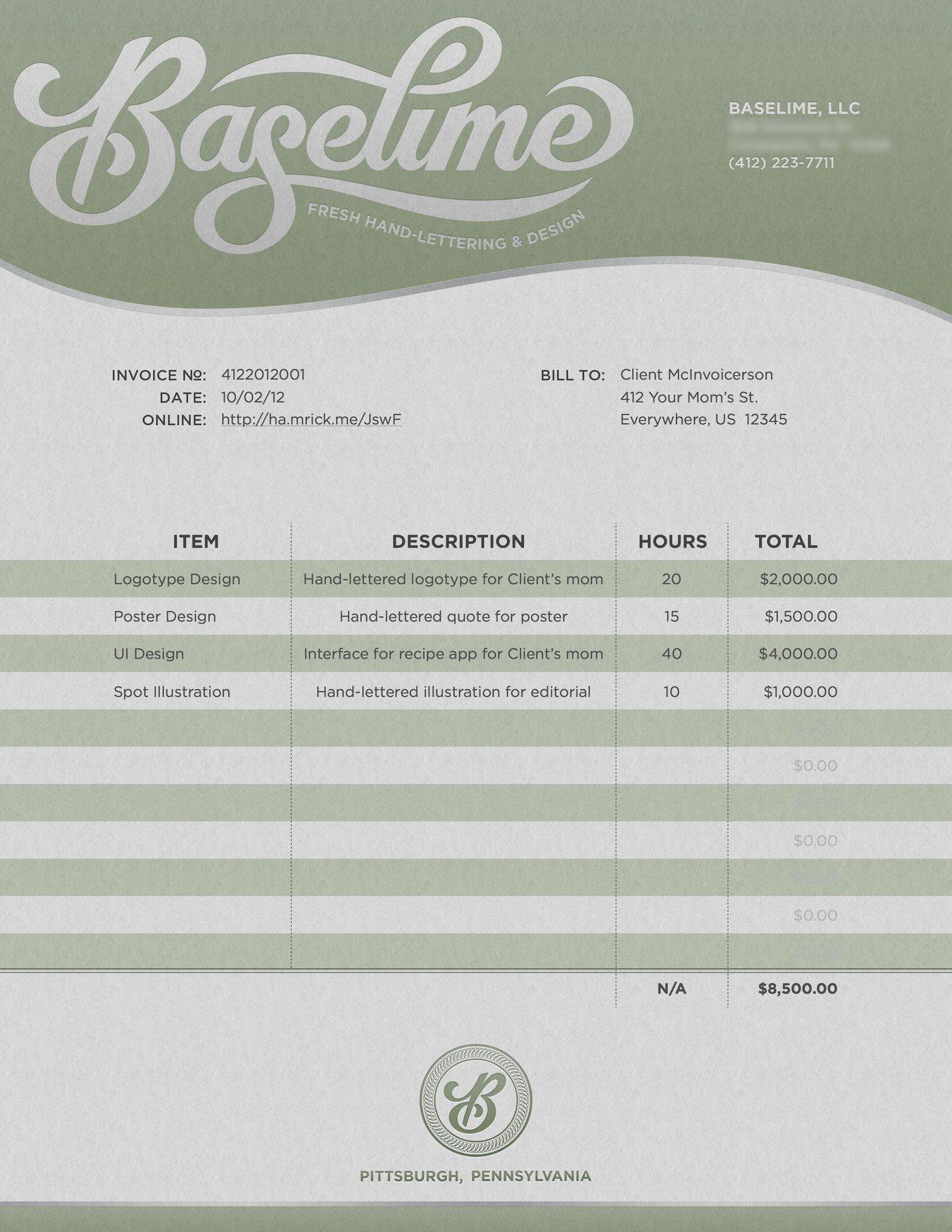 002 Awesome Freelance Graphic Designer Invoice Sample Highest Clarity Full