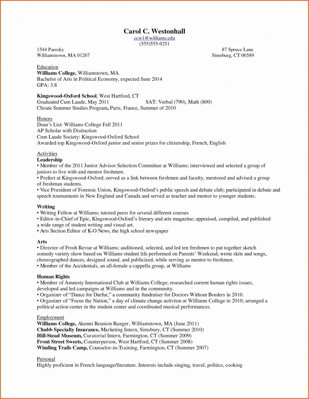 002 Awesome Freshman College Student Resume Template Photo  For With Little Work Experience FreeLarge