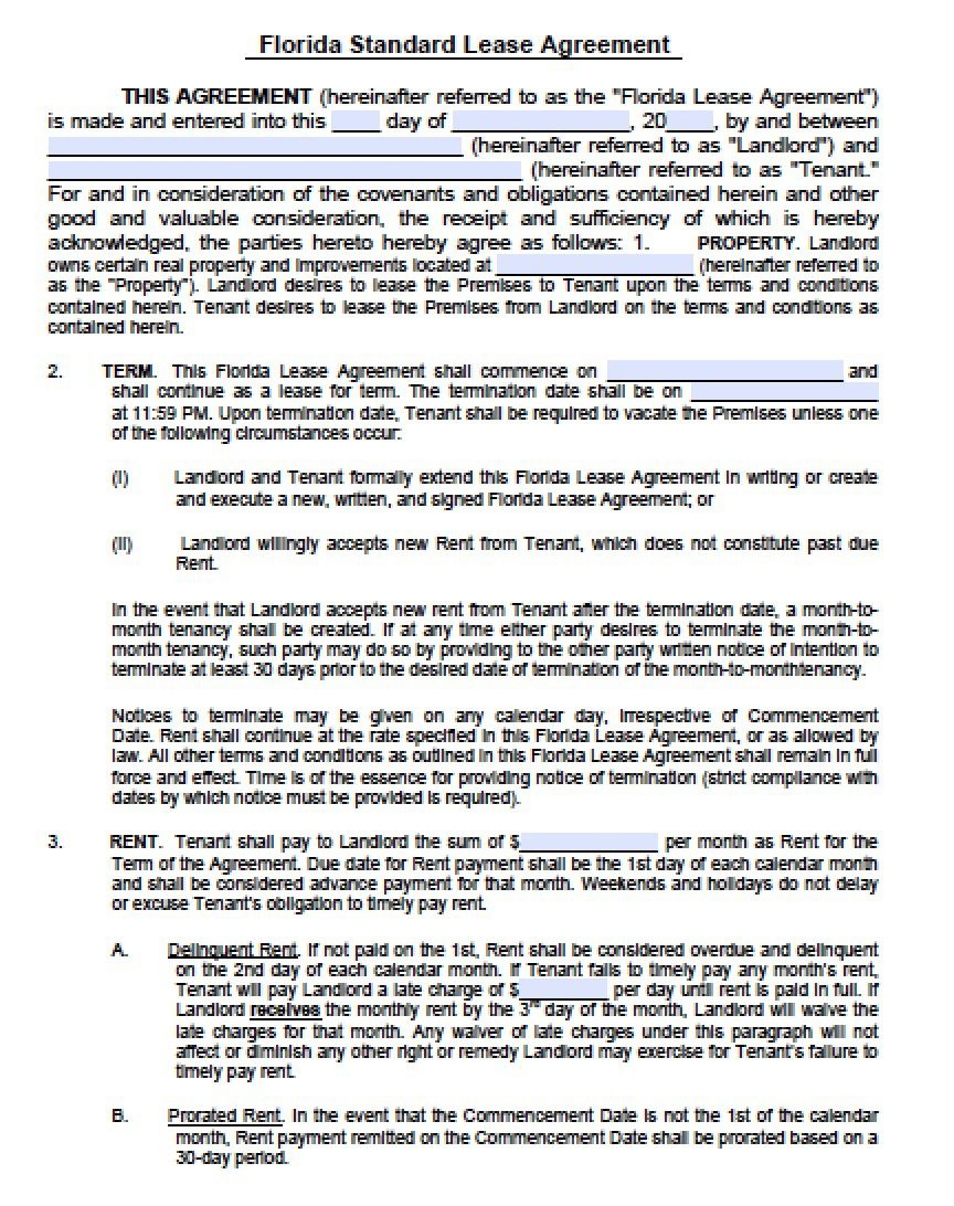 002 Awesome Generic Rental Agreement Free Concept  Template Word PrintableFull