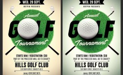 002 Awesome Golf Tournament Flyer Template High Definition  Word Free Pdf