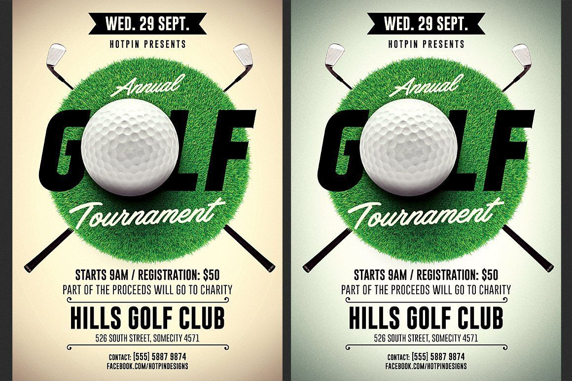 002 Awesome Golf Tournament Flyer Template High Definition  Word Free PdfFull
