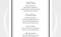 002 Awesome Menu Template Free Download Word Sample  Dinner Party Wedding